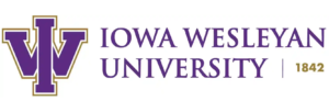Iowa wesleyan university logo established in 1842
